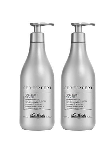 L'oreal Professionnel Loreal Silver Şampuan 2X500 Ml Renksiz